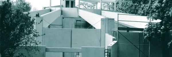 Construction de la salle de répétition des chœurs, 1984