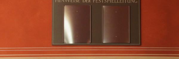La direction du Festspielhaus vous indique que …